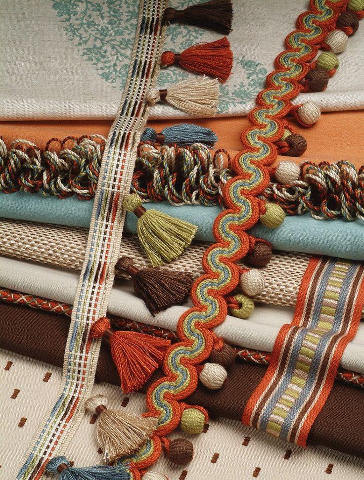 Trim adds a nice touch to any custom drapery Brimar  Tie