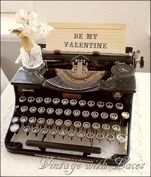 Be my Valentine pretty letter ~ typewriter vignette by Julia! by tamara
