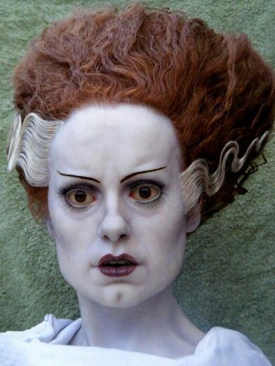 Bride of Frankenstein made out of clay