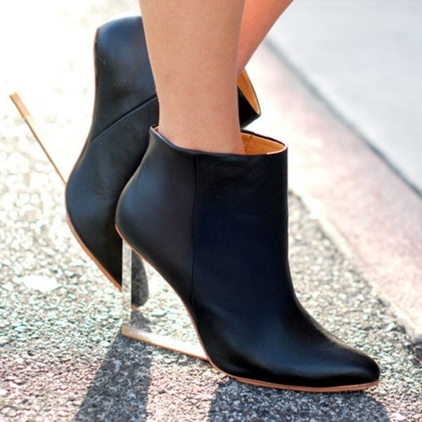 16bbd8fb15a Wedge Heel Boots with Transparent Heels by Choies