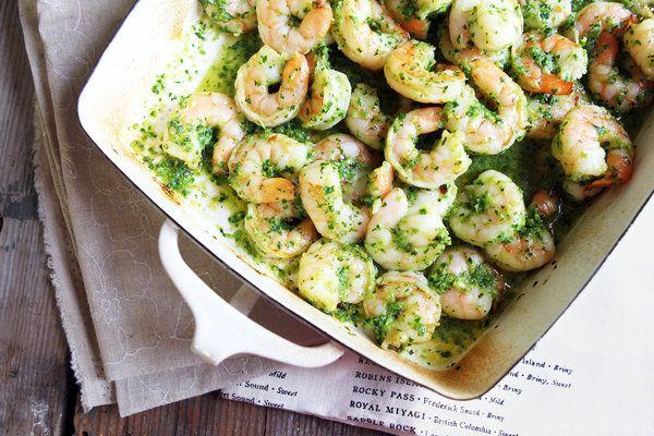 Bittman's Shrimp in Green Sauce