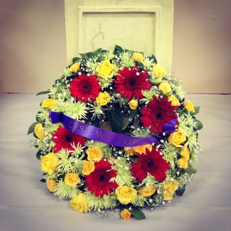 Remembrance/Anzac Day Wreath - Designer: Stephanie Hanley. www.floralhavenflorist.com.au