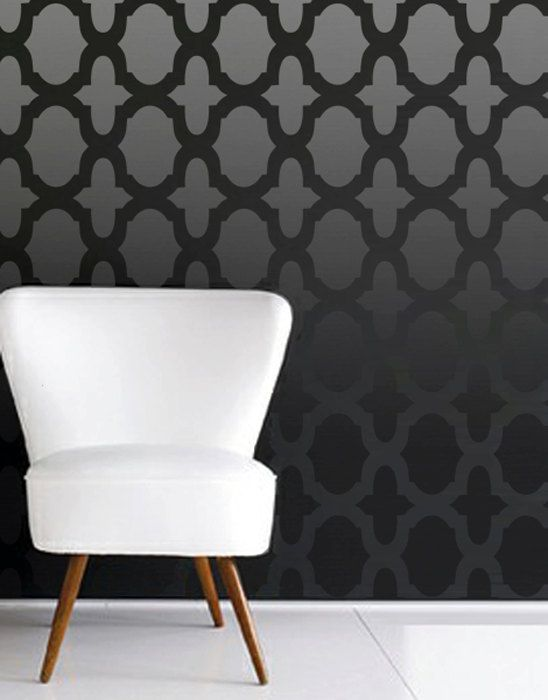 25 best ideas about moroccan wall stencils on pinterest for Pochoir mural design