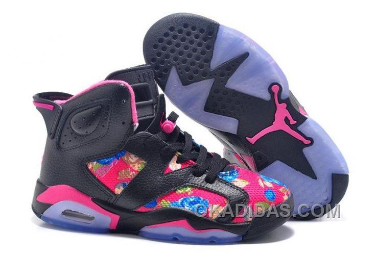 "http://www.okadidas.com/2016-girls-air-jordan-6-floral-print-black-pink-shoes-for-sale-online-7hcscnc.html 2016 GIRLS AIR JORDAN 6 ""FLORAL PRINT"" BLACK PINK SHOES FOR SALE ONLINE 7HCSCNC Only $89.00 , Free Shipping!"
