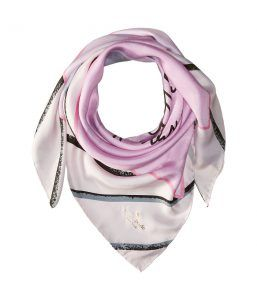 Kate Spade New York Letters from Paris Silk Square Scarf (Cream) Scarves