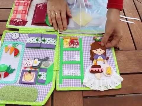 (206) Развивающая книжка # Кукольный домик - YouTube