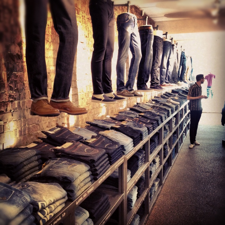 Packed to the rafters with all new denim from‏ Nudie jeans, G-star Raw Edwin, Diesel, Levis and more