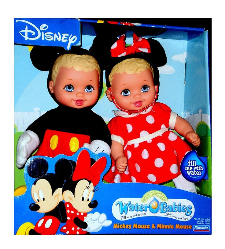 Amazon.com: Disney Mickey and Minnie Mouse Water Babies Doll Set Lauer Baby Dolls Toy: Toys & Games