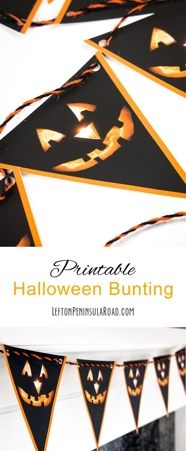 Printable Halloween Bunting