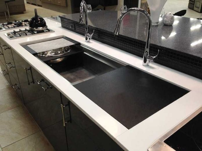 Large Kitchen Sinks Drop In Stainless Steel Sink Extra Furnitures Pinterest Remodel And Galley Kitchens