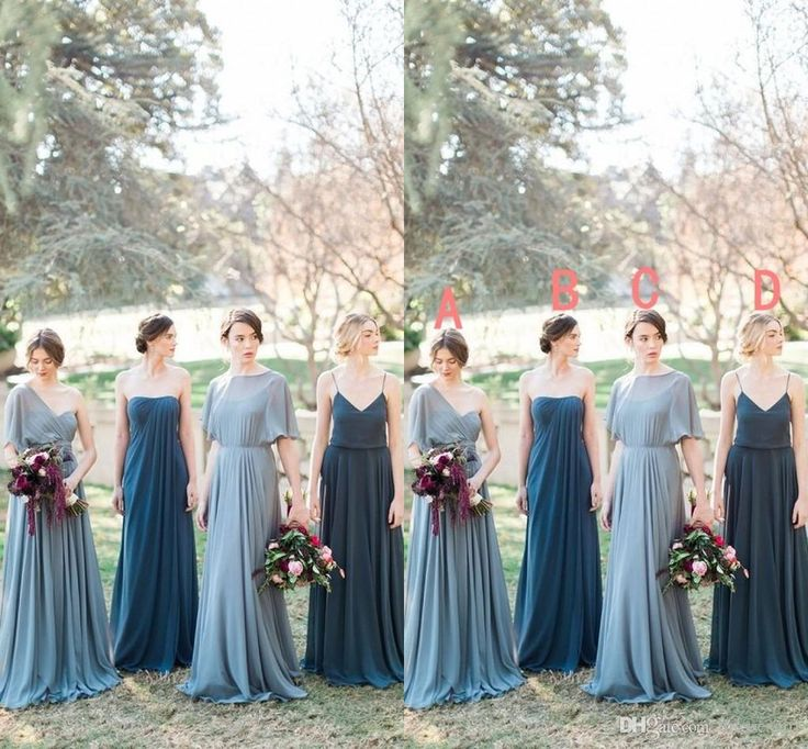 2017 New Spring Spaghetti Strap Long Bridesmaid Dresses Vintage Chiffon Summer Maid Of Honor Gown Formal Wedding Guest Dress Cheap Bridesmaids Dress Bridesmaids Dresses Uk From Dressesgirl, $83.03| Dhgate.Com