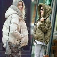 High Quality New Fashion Leisure Long Dots Down Coat Against The Cold