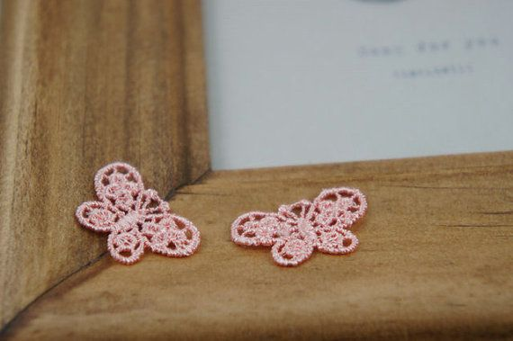 10 pcs Cute Small Size Venice Lace Butterfly by LaceDecoration