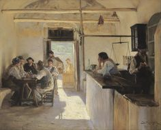 The Athenaeum - Tavern in Ravello (Peder Severin Kroyer - )