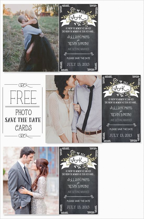 Free photo save the date cards | Wedding Chicks