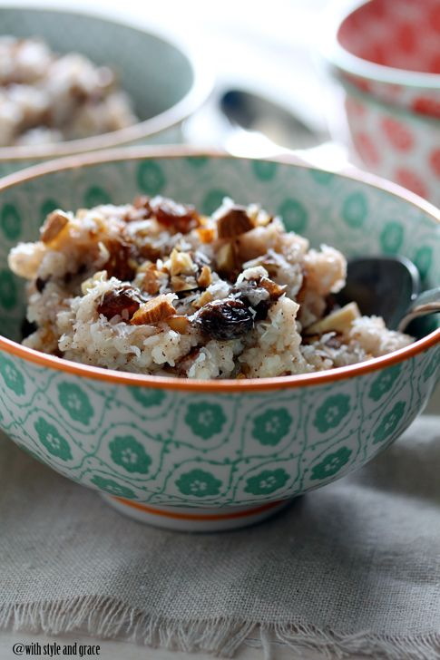slow cooker coconut rice pudding: Recipe, Crock Pots, Slow Cooking, Rice Puddings, Almonds Rice, Coconut Milk, Slow Cooker, Cooker Coconut, Almonds Milk