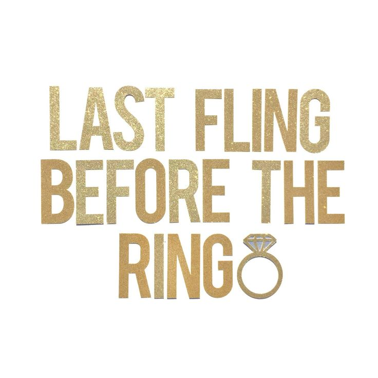 Bachelorette Party Banner // Last Fling Before the Ring Bachelorette Party Decoration // Final Fling Hen Party Decor