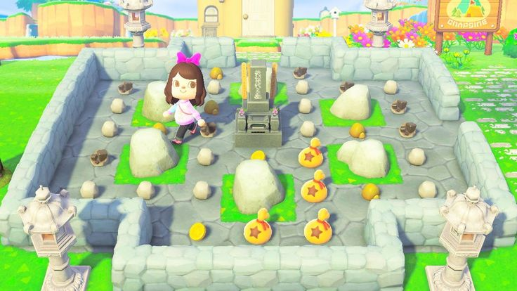 Pin by KC on ACNH in 2020 | Rock garden, Animal crossing ...