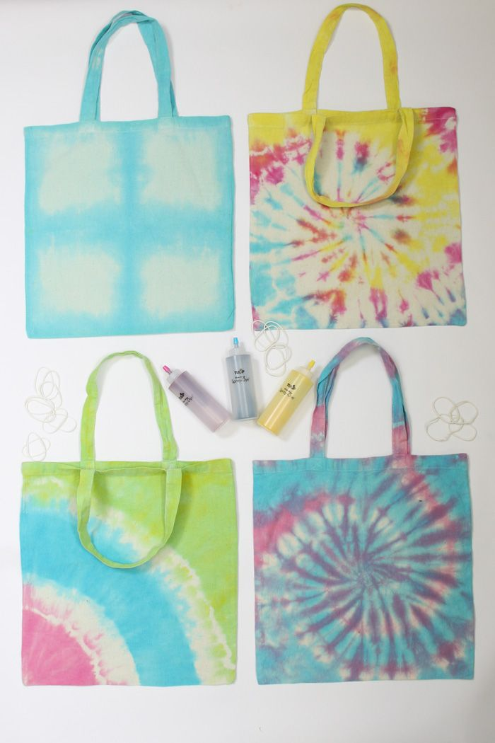 How to Tie Die a Tote Bag #diy #tote #tiedye #tulip
