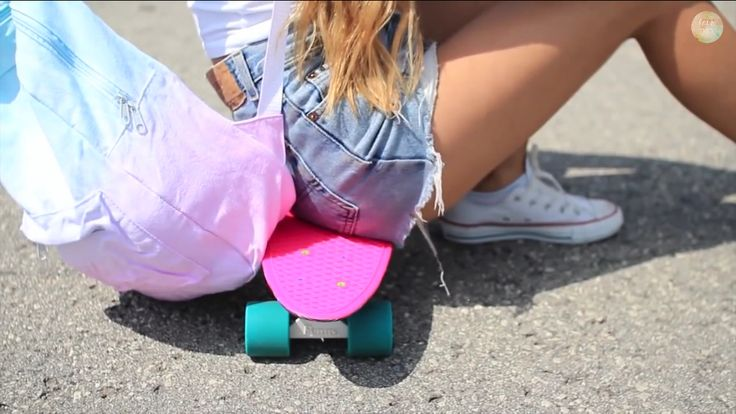 backpack, penny board, outfit - LaurDiy
