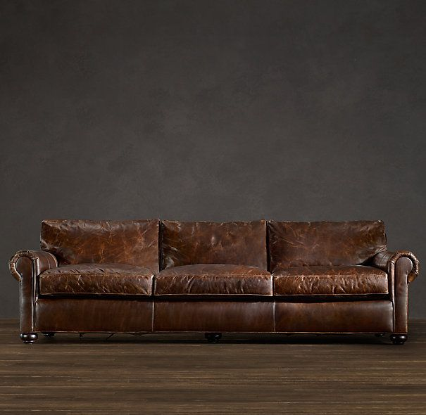 The Dream Restoration Hardware Lancaster Leather Sofa Or Width With Depth I Will Someday Sit On This In My Own Living Room And Not Just Every