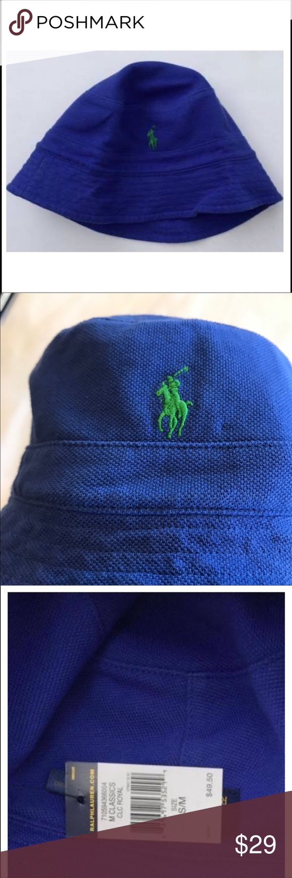 Ralph Lauren Polo bucket hat S/M royal Blue B87 Ralph Lauren Polo bucket hat S/M royal Blue B87 Polo by Ralph Lauren Accessories Hats