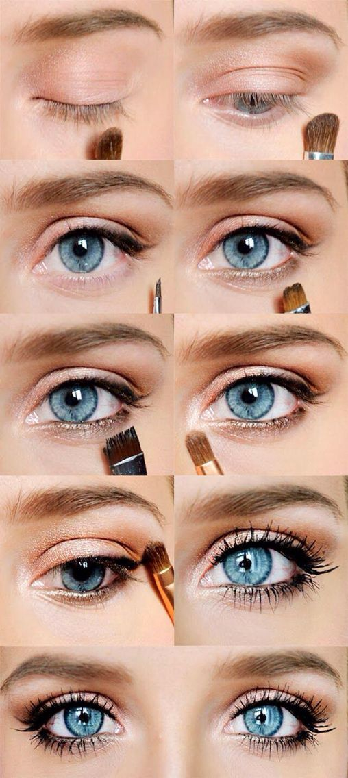 Pretty pink accent for blue eyes