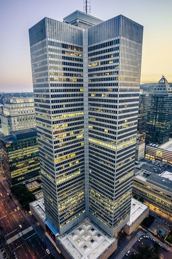 1 Place Ville Marie ~ Montréal, Canada ~ I.M. Pei & Partners (1962) ~ International Style ~ 188 m (617 ft) / 47 floors.