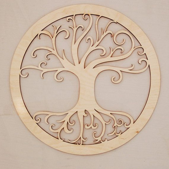 Tree of Life Sacred Wall Art – Raw Wood Home Decor by Eyegrinddesign, $25.00