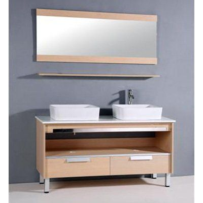 Legion Furniture Davey 56 In. Double Bathroom Vanity Set   Www.hayneedle.com