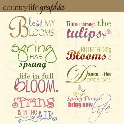 quotes about springtime and life | Spring Word Art Mini Collection quotes about springtime and life | Spring Word Art Mini Collection