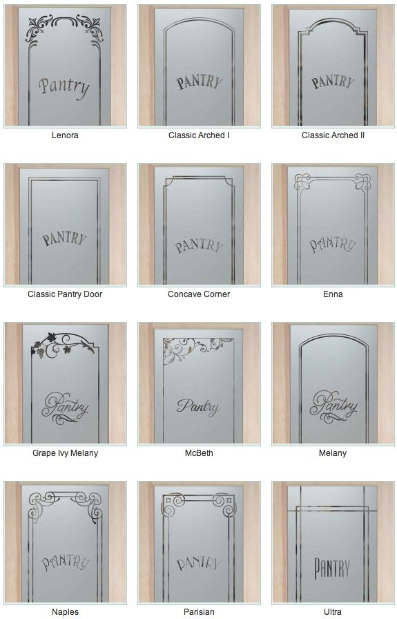 I love frosted glass pantry doors! Bring light into the pantry without…