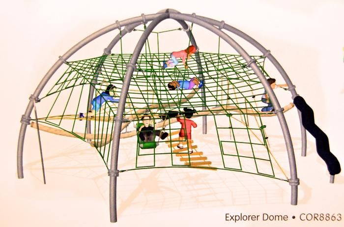 The Explorer Dome Rope Climbing Structure From Kompan That