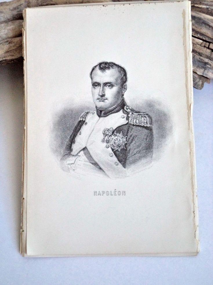 1889 Original Napoleon Steel Engraving Original Print, Napoleon Portrait, Napoleon Antique Print, Napoleon Art, Military, France, Napoleon by MushkaVintage3 on Etsy
