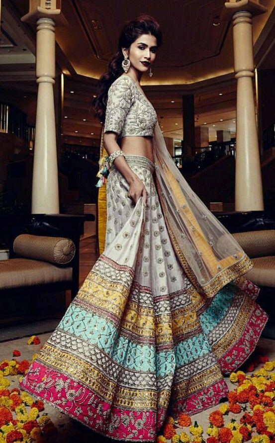 Unique color for a bridal lehenga! #indian #outfit #fashion #desi #outfit
