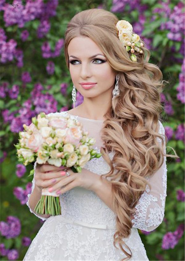 Top 25 stilvolle Braut Hochzeit Frisuren für langes Haar