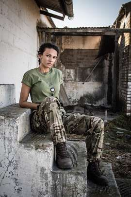 First look at Michelle Keegan as she films BBC drama Our Girl Series 2