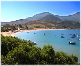 kleine camping in zuid Corsica.