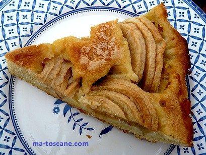 Amandine aux pommes, sans pâte. | Ma Toscane…