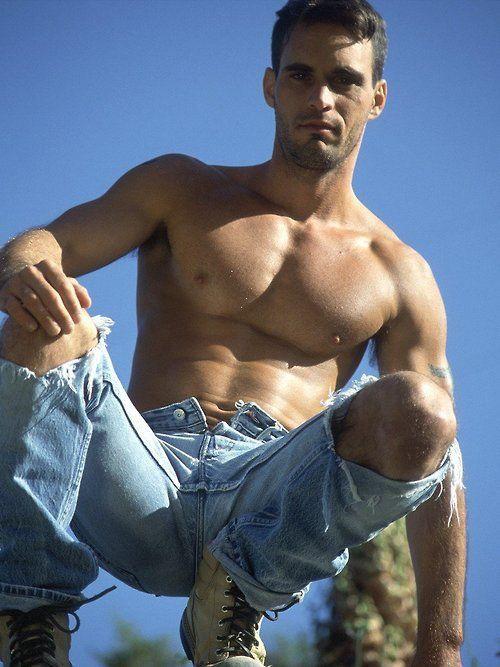 sexy männliche Jeans