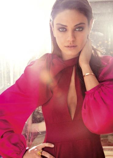 dark pink Sonia Rykiel dress with poofy sleeves