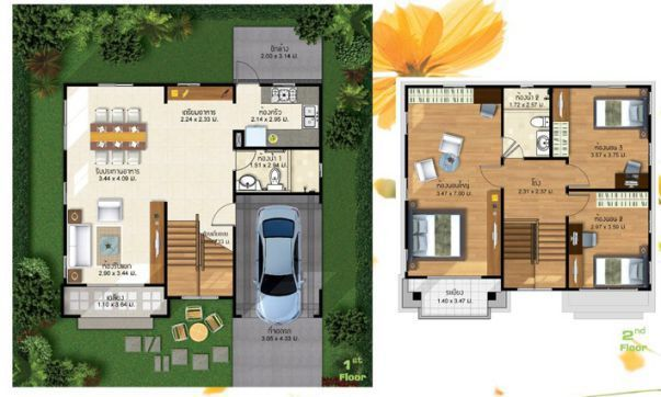 Two Storey 3 Bedroom House Design Pinoy Eplans 2 Storey House Design House Design Bungalow House Design
