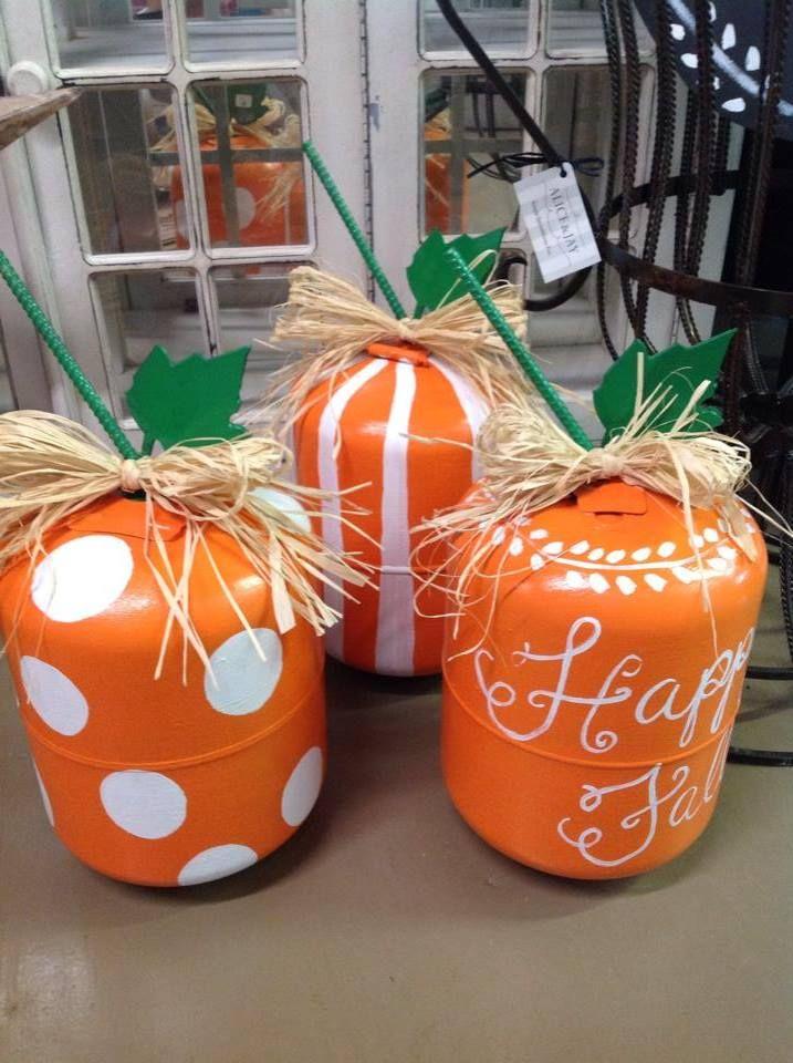 Alice & Jay polka dotted propane tank pumpkin