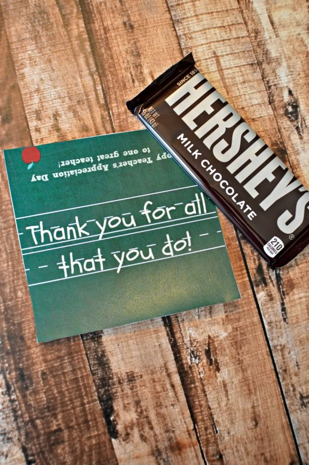 Teacher Appreciation Day Candy Bar Wrapper Printable ...