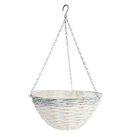 Whitewashed Hanging Basket