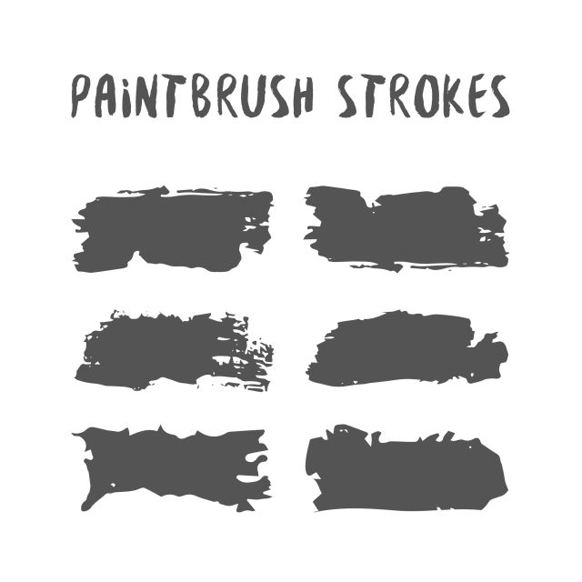 Black Paintbrush Strokes Black Paint Brush Png And Vector With Transparent Background For Free Download Graphic Design Background Templates Vector Illustration Design Brush Stroke Vector