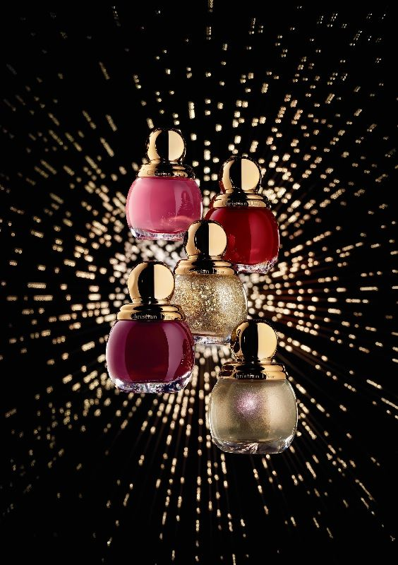 """The collector series features four other shades. For softer sophistication, a deep plum exudes a trail of """"Mystère,"""" a fiery red unleashes """"Passion,"""" and a baby pink lets you in on the """"Secret""""… And then there is the magical """"Gris-Or,"""""""