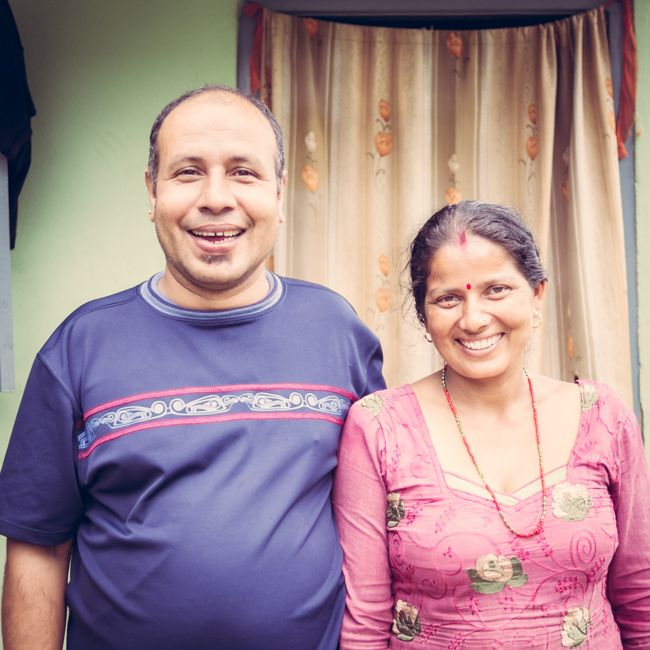 """We both work 12 hour days, seven days a week and rarely have a day off. I sell postcards to tourists on the street and he works as a waiter in a local restaurant. Our joint income each month is around 12,000 rupees [~US$120] from which we have to pay rent and bills for our small two room home, buy food, pay school fees for our two children and buy expensive medical supplies for our daughter; who was found to have a hole in her heart. Sure, we have our [...more] #nepal #work #struggles…"