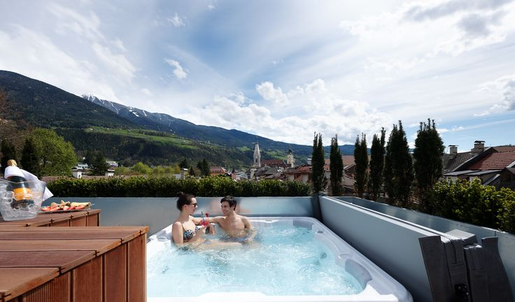 Hotel Pupp | Boutique Hotel | Brixen | Italy | http://lifestylehotels.net/en/hotel-pupp | Terrace | Private Whirlpool | View | Alps