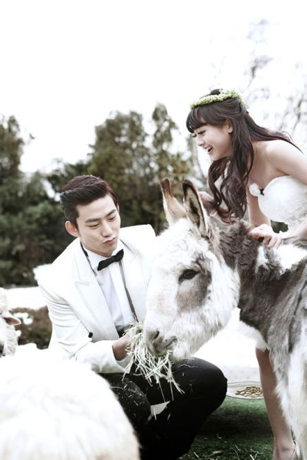 Korean Pre Wedding Photoshoot - 2PM Taecyeon and Gui Gui on We Got Married